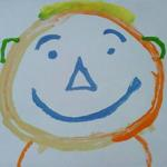 """Smile"" was the original self-portrait of Nicholas he did while a small child.  It now is the logo for the project and has been a favorite for many as a note card design.  The reason - it makes you smile when you see it."